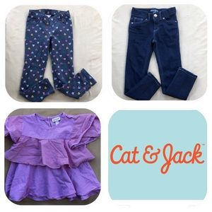 3 Cat & Jack Item Bundle Girls 5T